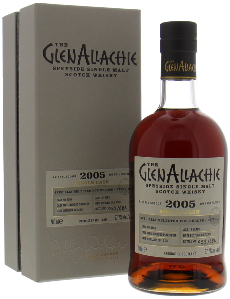 Glenallachie - 14 Years Old Batch 3 for Europe Cask 4561 57.7% 2005