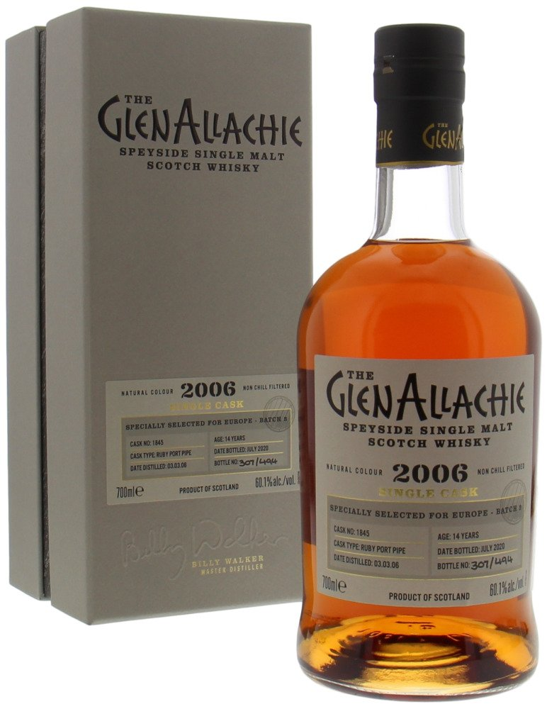 Glenallachie - 14 Years Old Batch 3 for Europe Cask 1845 60.1% 2006