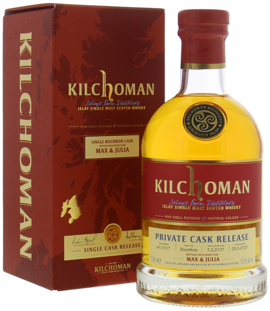 Kilchoman - 13 Years Old Bottled for Max & Julia Cask 69 55.5% 2007