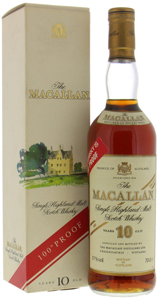 Macallan - 10 Years Old 100 Proof on Red Sticker 57% NV