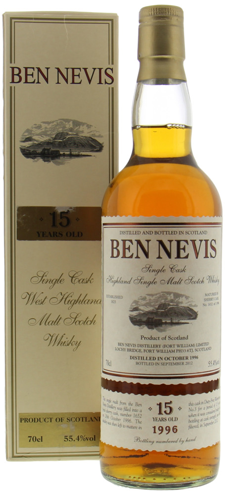 Ben Nevis - 15 Years Old Single Cask 1652 55.4% 1996