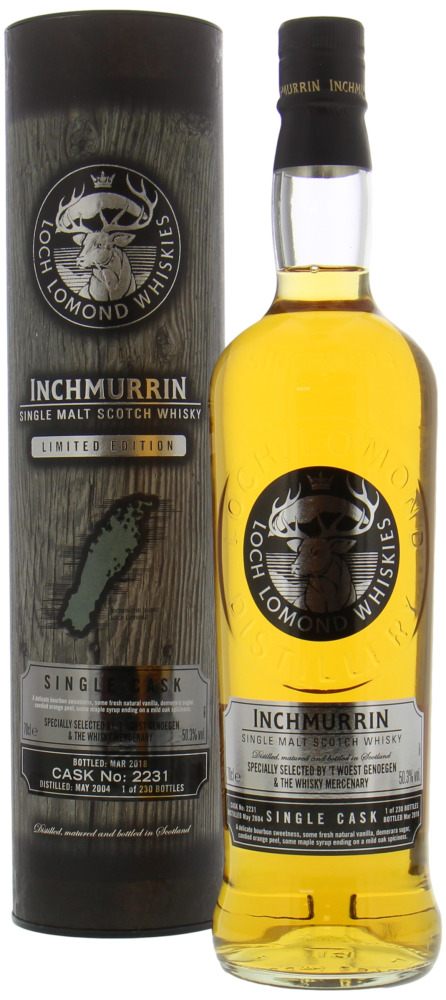 Inchmurrin - 14 Years Old Specially Selected by 't Woest Genoegen & The Whisky Mercenary Cask 2231 50.3% 2004