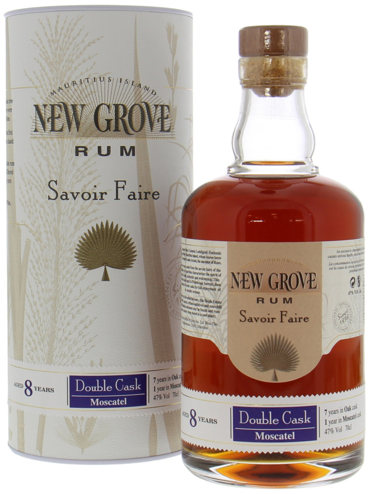 New Grove Distillery - 8 Years Old Savoir Faire Double Cask Moscatel 47% NV