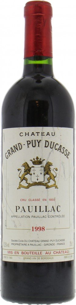 Chateau Grand Puy Ducasse - Chateau Grand Puy Ducasse 1998