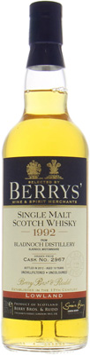 19 Years Old Berry Bros & Rudd Cask:2967 51.7%Bladnoch -