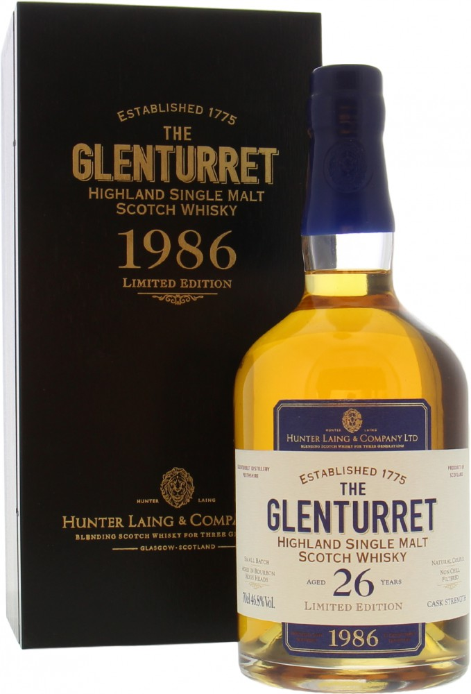 Glenturret - 26 Years Old Hunter Laing Limited Edition 46.8% 1986