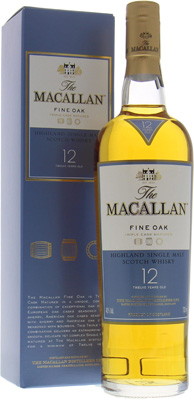 12 years Old Fine Oak 40%Macallan -