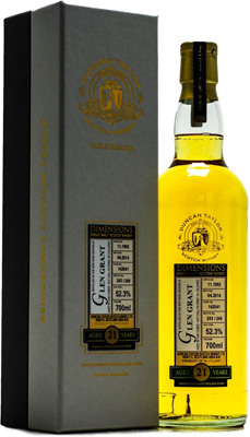 21 Years Old Duncan Taylor Dimensions Cask 142041 52.3%Glen Grant -