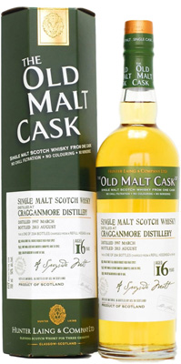 16 years Old Hunter Laing Old Malt Cask:HL9931  50%Cragganmore -