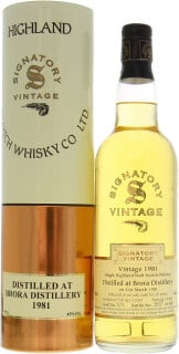 19 Years Old Signatory Vintage Collection Cask:  575 1 Of 405 43%19 Years Old Signatory Vintage Collection Cask:  575 1 Of 405 43%