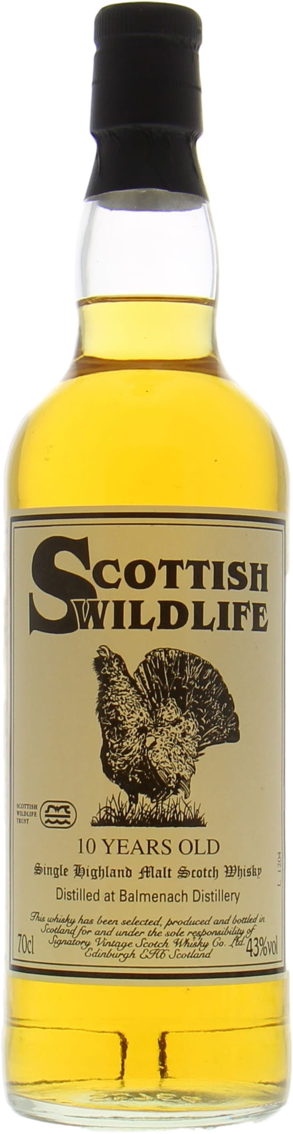 Balmenach - 10 Years Old Signatory Vintage Scottish Wildlife 43%