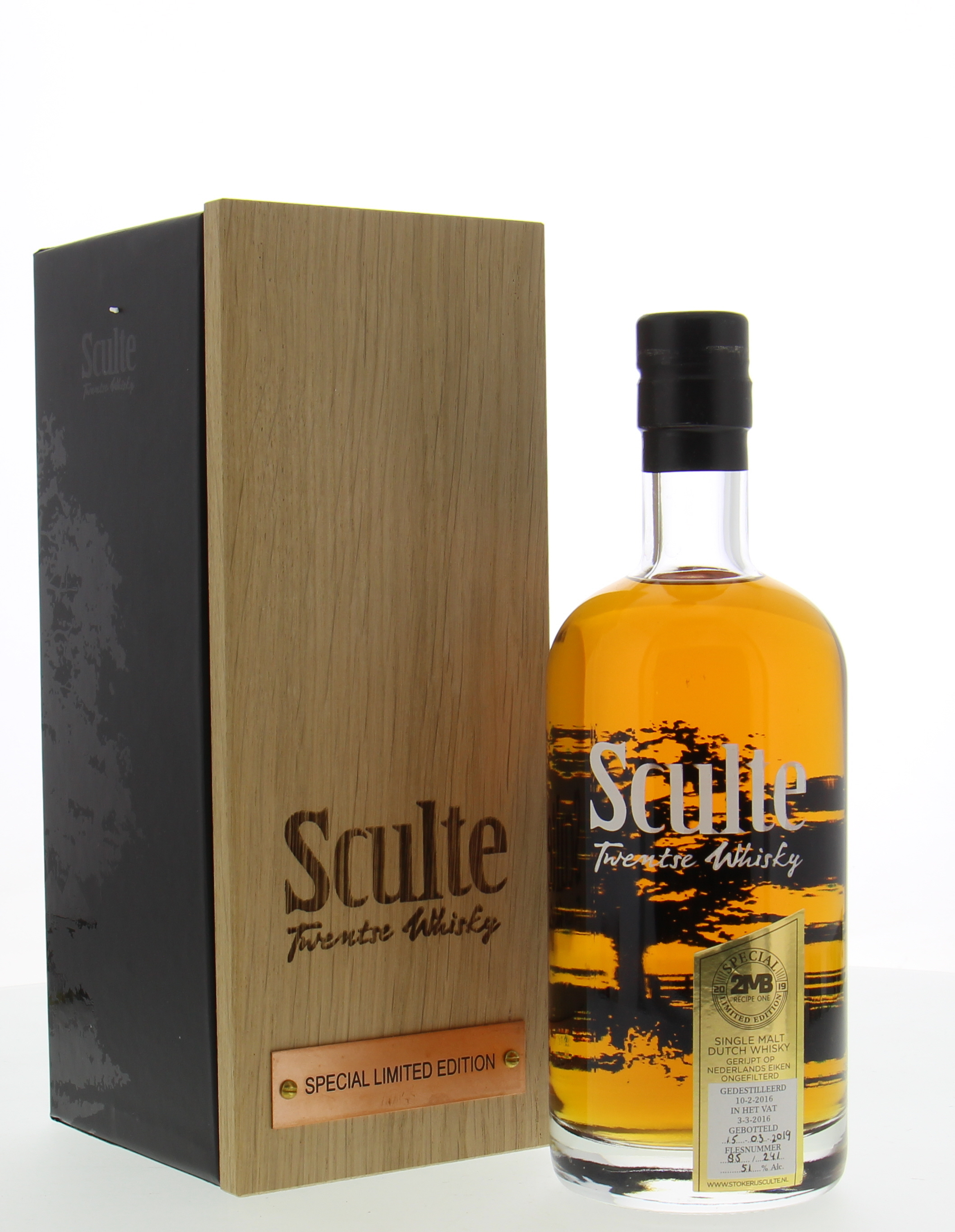 Stokerij Sculte - 2MB Recipe One Twentse Whisky 51% 2015